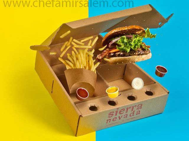 طراحی بسته بندی غذاهای فست فود برای سیستم بیرون بر